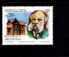 771311177 1984 SCOTT 1484 1485 POSTFRIS  MINT NEVER HINGED EINWANDFREI  (XX) - CITY OF PUERTO DESEADO CENTENARY - Neufs