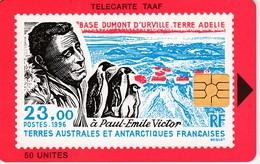 Télécarte TAAF FSAT - Paul Emile VICTOR - Chiens, Manchots, Traineau 2 TC - TAAF - Franse Zuidpoolgewesten