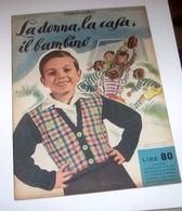 Rivista Moda - La Donna La Casa Il Bambino N. 2 - 1954 Tavole Annesse Cartamode - Libri, Riviste, Fumetti