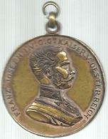 Austria, 1870 Arciduca Francesco Giuseppe, Ae. Gr. 12, Cm. 3,1. - Gettoni E Medaglie