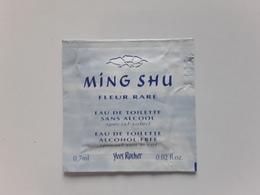 "YVES  ROCHER   "" Ming Shu ""   Pochette Parfumée  ! - Perfume Cards"