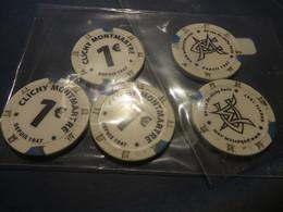 5 Jetons De 1€ Du Cercle Clichy,le Dernier Fermé,et Peut-etre Rouvert En JUIN ?? - Casino