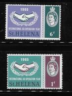 St Helena 1965 ICY International Cooperation Year Mint Hinged - Saint Helena Island