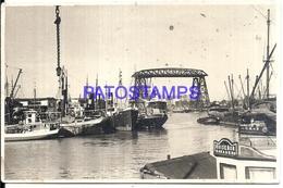 112638 ARGENTINA BUENOS AIRES LA BOCA VISTA PARCIAL PORT PUERTO & SHIP PHOTO NO POSTAL POSTCARD - Photographs