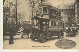 C.P. - LES AUTOBUS DE PARIS - AUTOMOBILES EUGÈNE BRILLIE - C'ÉTAIT LA FRANCE - CECODI - REPRODUCTION - Transporte Público