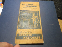 LIGNES D'AUTOBUS ET PUBLICITE LOTERIE NATIONAL - Transportation