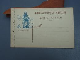 Cpa Correspondance Militaire Carte Postale Vierge. - Guerre 1914-18