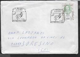ANNULLO SPECIALE - MACERATA - 08.10.1983 - MOSTRA VITE E VINO - SU BUSTA VIAGGIATA - Alimentazione