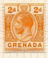 AMERIQUE CENTRALE - GRENADE - (Colonie Britannique) - 1913-21 - N° 71 - 2 P. Jaune Foncé - (George V) - Central America