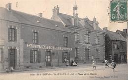 """¤¤   -   SAINT-AUBIN-des-CHATEAUX   -  Place De La Mairie  -  Café De France """" Théophile POULAIN """"     -  ¤¤ - Altri Comuni"""