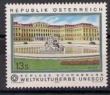 1999 Austria Österreich  Yv 2107 Mi. 2277**MNH  UNESCO Schloss Schönbrunn - 1945-.... 2. Republik