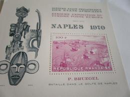 Miniature Sheet Perf Battle Of Naples - Rwanda