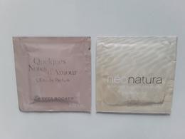 """YVES  ROCHER   """"qq Notes D'amour Et Néo Natura """"   2 Pochettes  Parfumées ! - Perfume Cards"""