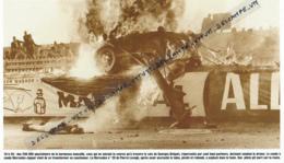 AUTOMOBILE : PHOTO (1955), 24 HEURES DU MANS, LE DRAMATIQUE ACCIDENT DE LA MERCEDES DE PIERRE LEVEGH DANS LA FOULE... - Automobile - F1