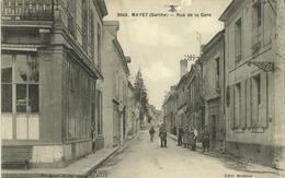 72 - Mayet - Rue De La Gare (animée) - Pas Courante - France