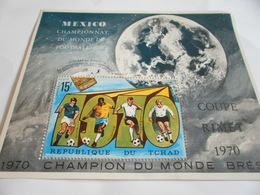 Miniature Sheet Perf Mexico Football World Cup 1970 - Chad (1960-...)