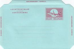 GOOD BELGIUM Aerogramme 1992 - Airplane (var1) - Stamped Stationery