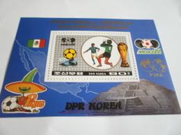 Miniature Sheet Perf Mexico Football World Cup 1986 - Korea, North