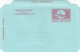 GOOD BELGIUM Aerogramme 1992 - Airplane (var2) - Stamped Stationery