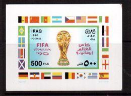 Iraq-1990,(Mi.Bl.55I),Football, Soccer, Fussball,calcio,MNH - World Cup