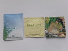 """YVES  ROCHER   """"  Nature  Et Naturelle   """"   3 Pochettes  Parfumées Différentes  """" - Perfume Cards"""