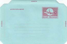 GOOD BELGIUM Aerogramme 1992 - Airplane (var3) - Stamped Stationery