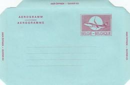 GOOD BELGIUM Aerogramme 1992 - Airplane (var4) - Stamped Stationery