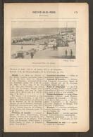 1923 BELGIQUE HEYST SUR MER CHEMIN DE FER 334 KM DE PARIS 117 KM DE BRUXELLES - HOTELS KURSAAL PROMENADES EN MER TRAMS - Spoorweg