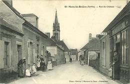 72 - Saint Mars La Brière - Rue Du Château (animée) - Autres Communes
