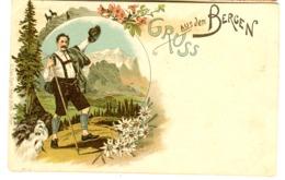 Farblitho AK H. Metz Tübingen U 1898 Gruss Aus Den Bergen - Zonder Classificatie