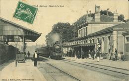 72 - Sable Sur Sarthe -  Quai De La Gare (animée) - Sable Sur Sarthe