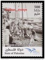 STATE OF PALESTINE PALESTINIAN 2015 JOINT ISSUE EUROMED POSTAL EURO MED CROATIA CYPRUS GREECE LEBANON MALTA SLOVENIA POR - Palestine