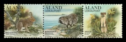 Aland 2017 Mih. 443/45 Fauna. Forest Mammals MNH ** - Aland