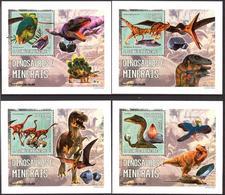 A{052} Sao Tome & Principe 2006 Dinosaurs Minerals 4 S/S Deluxe MNH** - Sao Tome And Principe