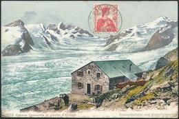 D37386 CARTE MAXIMUM CARD 1911 SWITZERLAND - SWISS ALPS ALETSCHGLETSCHER - DETAIL ON STAMP ARRIVAL POSTMARK CP ORIGINAL - Geology