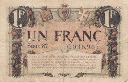 BILLET CHAMBRE DE COMMERCE -  NICE  UN FRANC  1920-1922 - Chamber Of Commerce