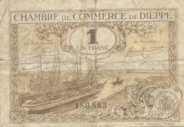 BILLET CHAMBRE DE COMMERCE - DE DIEPPE  1  FRANC- 1920 - Cámara De Comercio