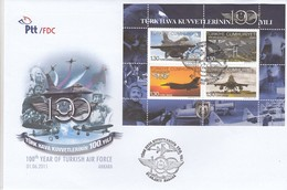 GOOD TURKEY FDC 2011 - Airplanes / Air Force - FDC
