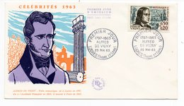 FDC France 1963 - Alfred De Vigny - YT 1375 - Loches - FDC