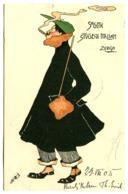SOCIETÀ STUDENTI ITALIANI ZURIGO Künstlerkarte Mit  Signatur Kleine Fehler Oben 1905 - ZH Zürich