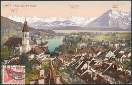 D37387 CARTE MAXIMUM CARD 1910 SWITZERLAND - SWISS ALPS THUN- DETAIL ON STAMP CP ORIGINAL - Sonstige