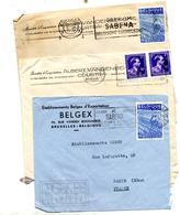 Lettre Flamme Compagnie Aerienne Sabena - Poststempel
