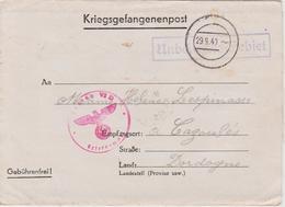 LETTRE PRISONNIER  29-9-40 STALAG GEPRUFT 39  Destination CAZOULES DORDOGNE 24 .  CACHET - Oorlog 1939-45