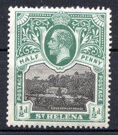 SAINTE HELENE - (Colonie Britannique) - 1912 - N° 41 - 1/2 P. Vert Et Noir - (George V) - Saint Helena Island