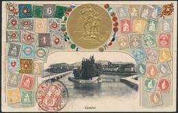 D37388 CARTE MAXIMUM CARD RR 1907 SWITZERLAND - COAT OF ARMS CROIX BLANCHE RELIEF PHILATELY CARD CP ORIGINAL - Philately & Coins