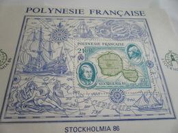 Miniature Sheet Perf Stockholm 1986 - French Polynesia