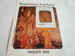 Miniature Sheet Perf Easter 1986 - Togo (1960-...)