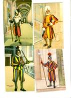 4 Cartoline Colori GUARDIA SVIZZERA - GARDE SUISSE - SWISS GUARD C. 1920 - Vaticano