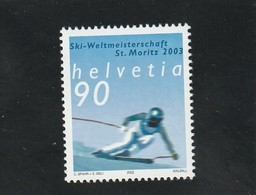Suisse Neuf **  2002  N° 1741   Sport  Championat Du Monde De Ski Alpin 2003 - Suisse