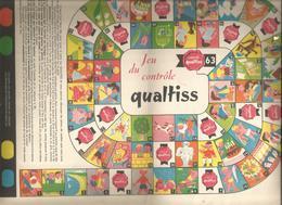 Publicité , Jeu , Controle QUALTISS, Magasins Marcel Dubois,Chatellerault, Tissus,4 Pages , 3 Scans ,  Frais Fr  1.95 E - Publicités